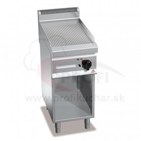 E-grilovacia platňa BERTO´S ryhovaná 4,8 kW