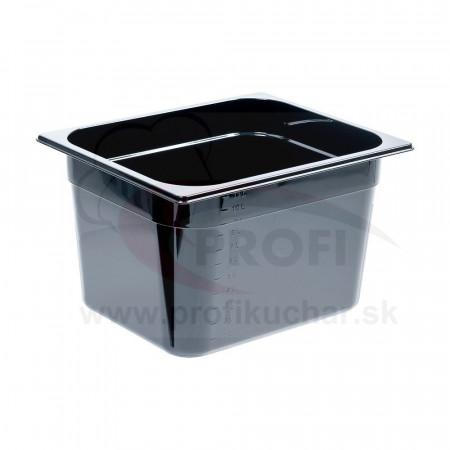 GN nádoba 1/2-200mm, čierný polykarbonát