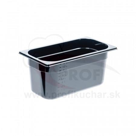GN nádoba 1/3-150mm, čierný polykarbonát
