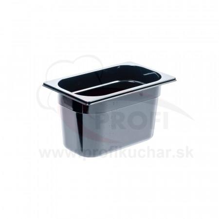 GN nádoba 1/4-150mm, čierný polykarbonát