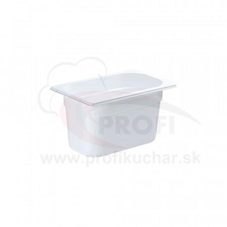 GN nádoba 1/4-150mm, bielý polykarbonát