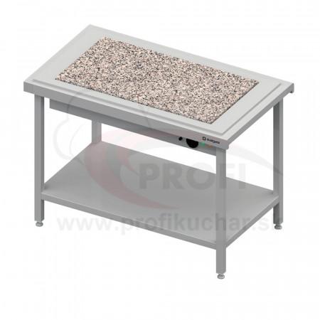 Ohrevný výdajný stôl s granitom na 3x GN1/1