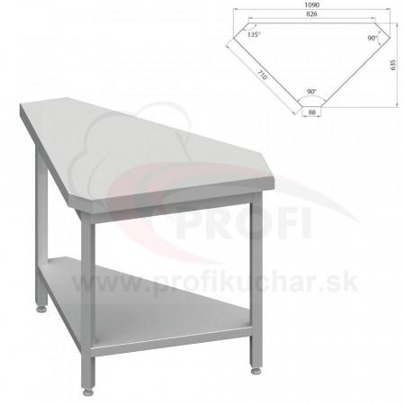 Neutrálný výdajný stoly rohový 90° - vonkajší – 697x800x880mm