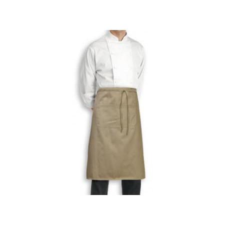 Kuchařská zástěra nízká 100% bavlna - béžová