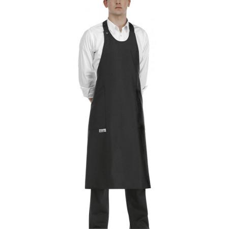 Barmanská zástěra vysoká - černá 100% polyester