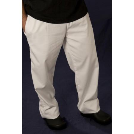 Bílé kuchařské kalhoty