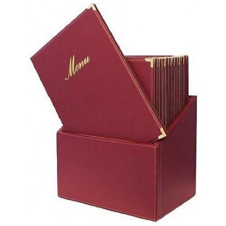 Box s jedálnymi lístkami CLASSIC, červená (20 ks)