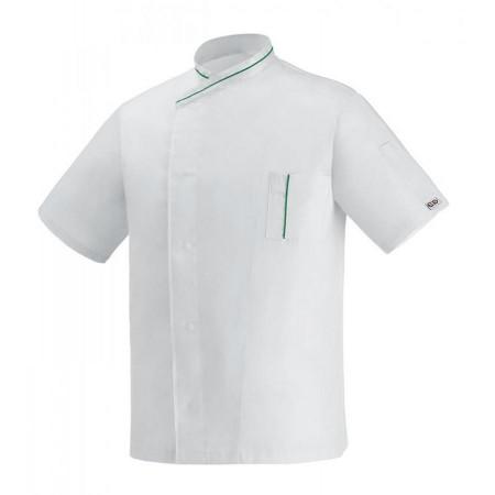 Kuchařský rondon Microtec krátký rukáv - bílý
