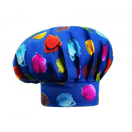 Kuchařská čepice vysoká - motiv zmrzlina