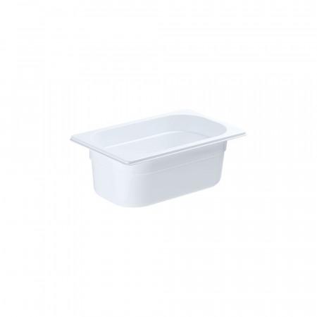 GN nádoba 1/4-100mm, bielý polykarbonát