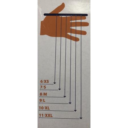 Nitrilové jednorázové rukavice nepúdrované - modré