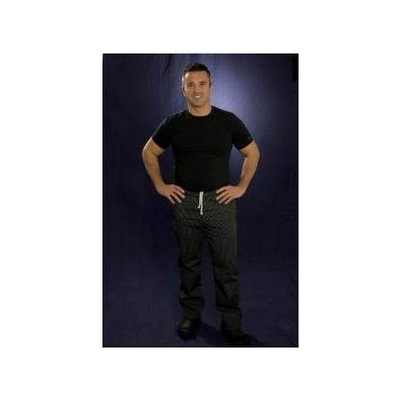 Kuchařské kalhoty SIR - jemné bílé pásy, 100% bavlna