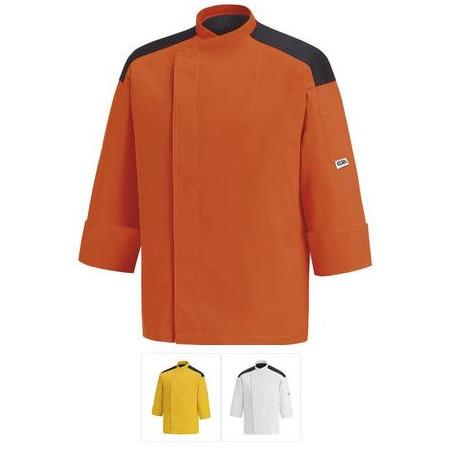 Kuchařský rondon - barevný s výložkou (oranž, žlutý, bílý)