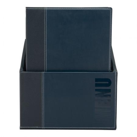 Box s jedálnymi lístkami TRENDY, modrá (20 ks)