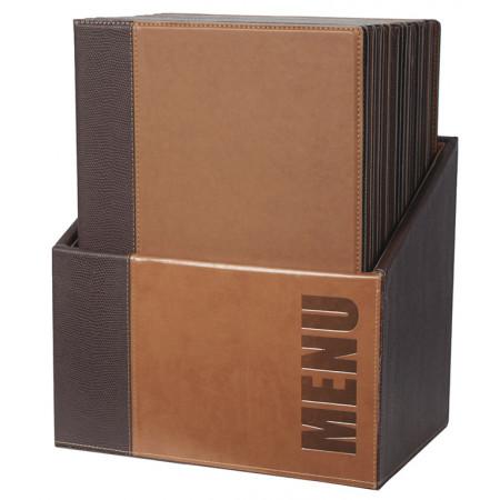 Box s jedálnymi lístkami TRENDY, svetlo-hnedá (20 ks)