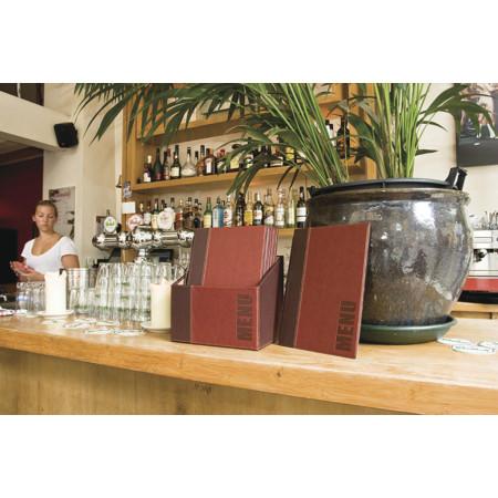 Box s jedálnymi lístkami TRENDY, vínova (20 ks)