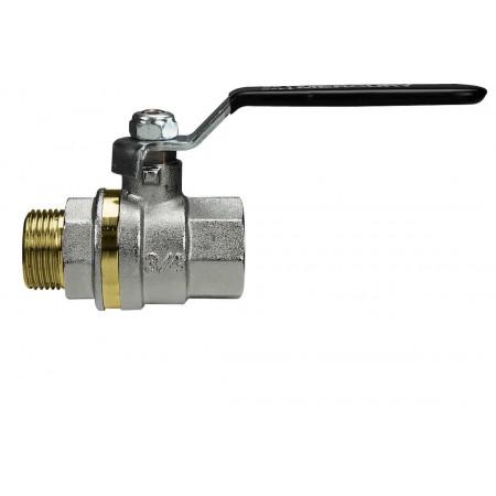 """MERCURY 0412N404 Guľový ventil na vodu M/F 1/2"""", DN 15, oceľová páka"""