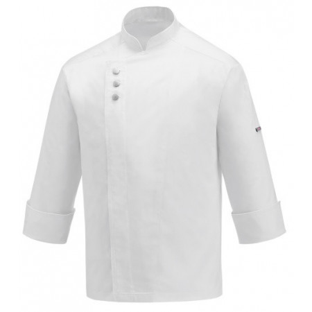 Kuchařský rondon METAL WHITE - dlouhý rukáv