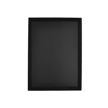 Nástenná popisovacia tabuľa UNIVERSAL, čierny rám 40x50