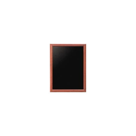 Nástenná popisovacia tabuľa UNIVERSAL, mahagón 60x80