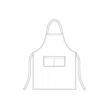 Mikrovlákno - kuchárska zástera ku krku s vreckom ČIERNA