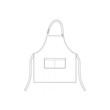 Kuchárska zástera ku krku s vreckom DÁMSKA- Jeans