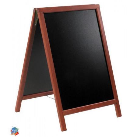 Ponuková stojanová tabuľa DUPLO SANDWICH 80x55, mahagon