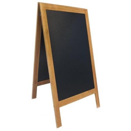 Ponuková stojanová tabuľa SANDWICH 120x70 cm, dub