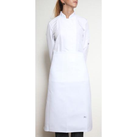 Kuchařská zástěra nízká 100% bavlna - bílá
