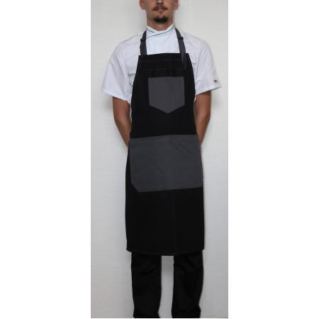 Kuchárska zástera ku krku 100% bavlna FASHION - čierna