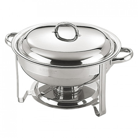 Chafing dish okrúhly, 4 lit