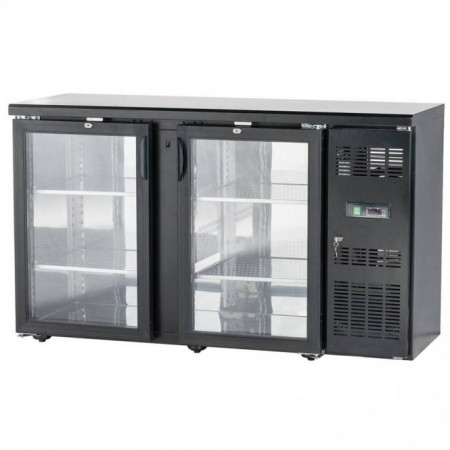 Presklený barový chladiaci pult – 2x dvere