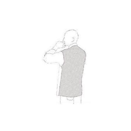 Kuchársky rondon OTTAVIO cool vent JEANS - dlhý rukáv (polybavlna)