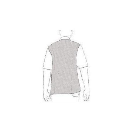 Kuchařský rondon Ottavio MM bordový - krátký rukáv (polybavlna)