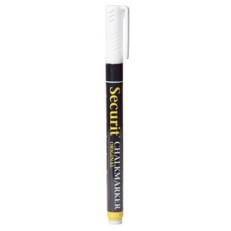 Mikro kriedový popisovač, 1 - 2 mm, biely