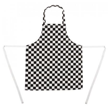 DĚTSKÁ kuchařská zástěra - černobílá šachovnice