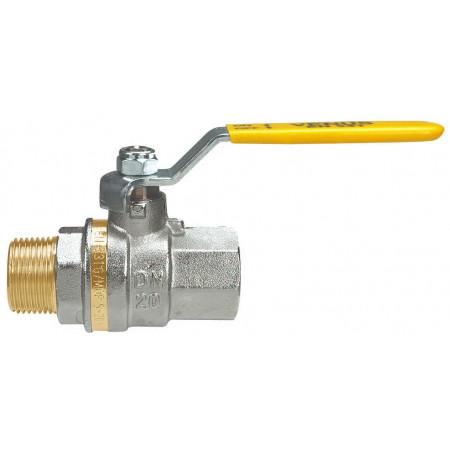 """VENUS 1012G263 Guľový ventil na plyn M/F 3/8"""", DN 10, oceľová páka"""