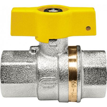 """VENUS 1021G203 Guľový ventil na plyn F/F 3/8"""", DN 10, T-páka"""