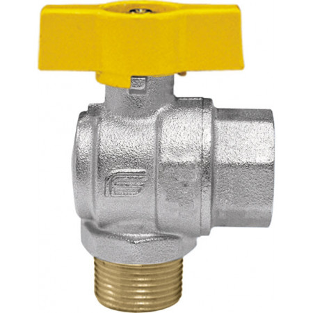 "VENUS 1074G265 Guľový rohový ventil na plyn F/M 3/4"", DN 20, T-páka"