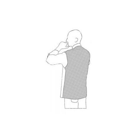 Kuchařský rondon VIP s košilovým střihem UNISEX - šedý