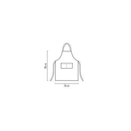Mikrovlákno - kuchárska zástera ku krku s vreckom BIELA