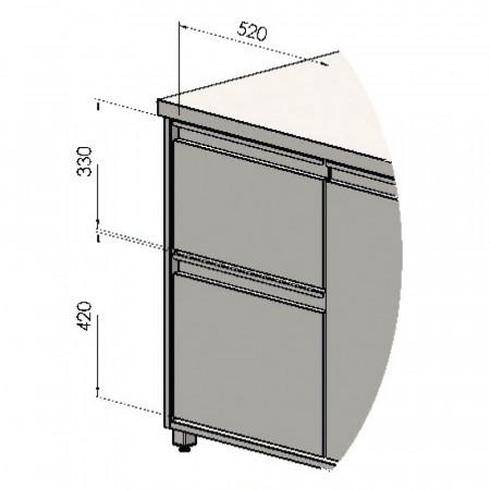 Blok 2 zásuviek - 270+360 mm