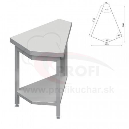 Neutrálne výdajné stoly rohové