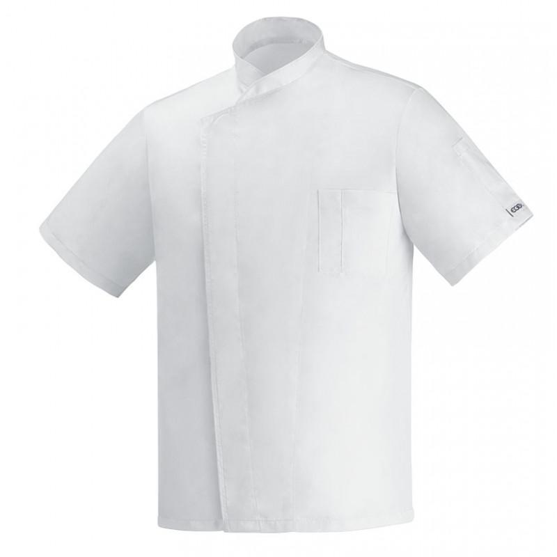 Kuchársky rondon OTTAVIO cool vent biely - krátky rukáv