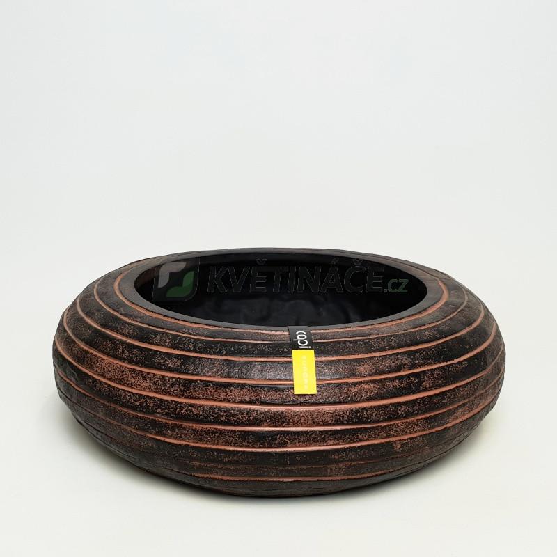 Capi Nature Row Bowl round I brown 35x10 cm
