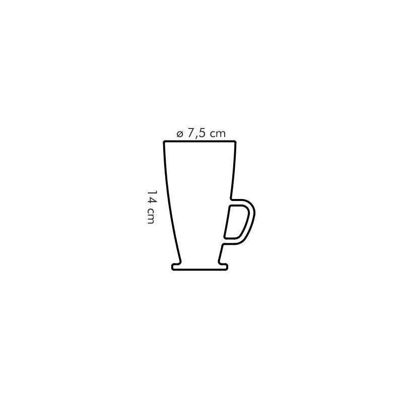 Tescoma sklenený hrnček latté macchiato CREMA 300 ml
