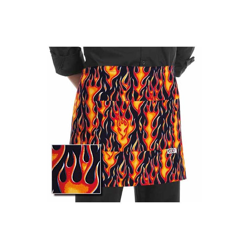 Barmanská zástěra - Plameny