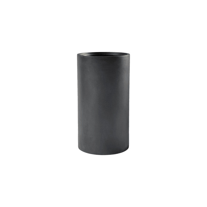 Kvetináč Fiberstone Klax M Black 30x60 cm