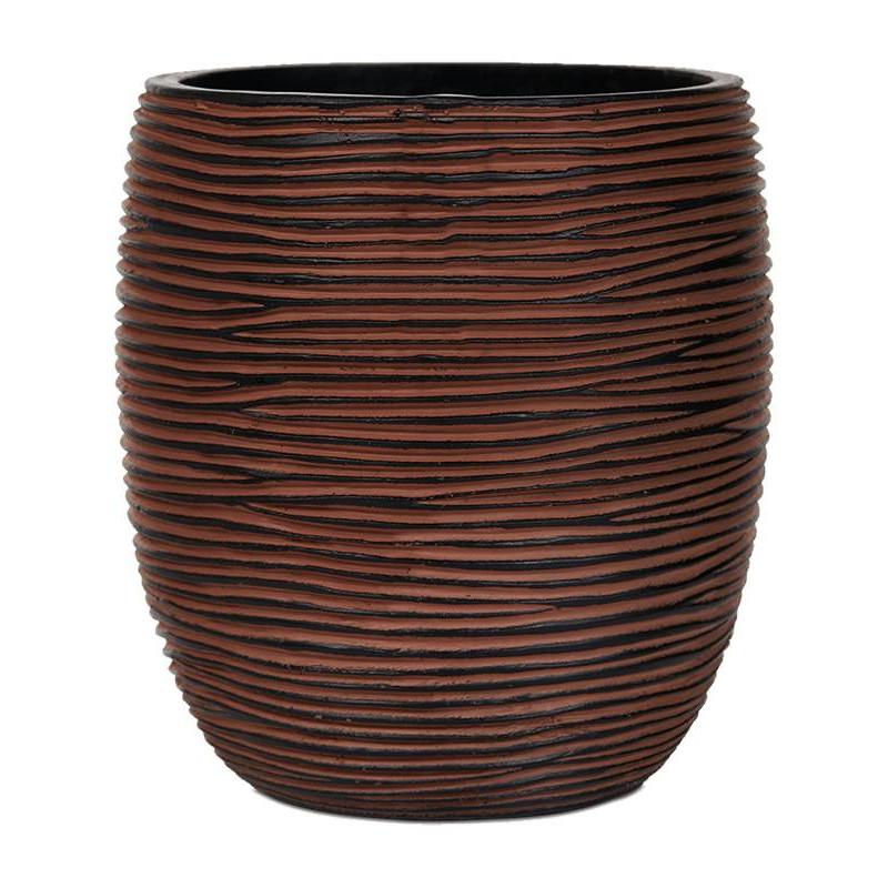 Capi Nature Vase elegant high II rib brown 18x21 cm