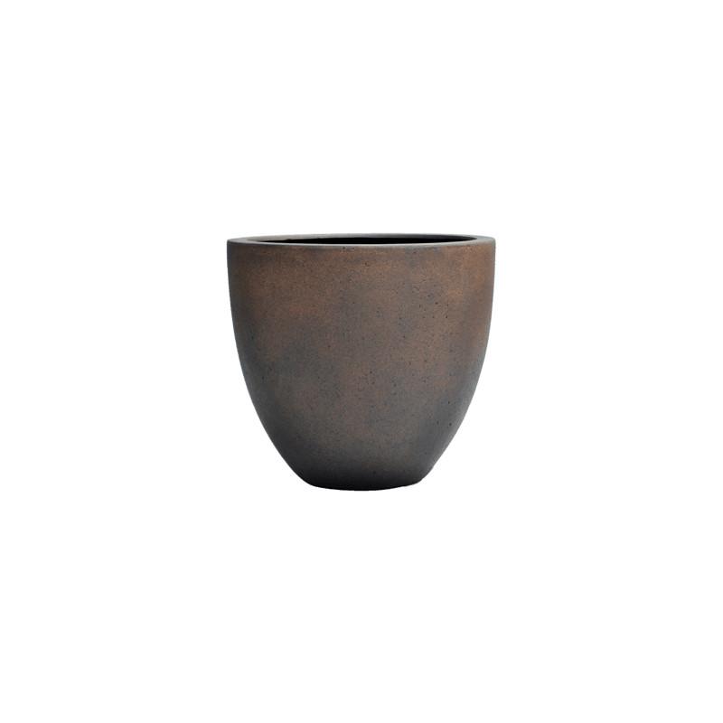 Grigio Egg pot S rusty iron-concrete 32x29 cm